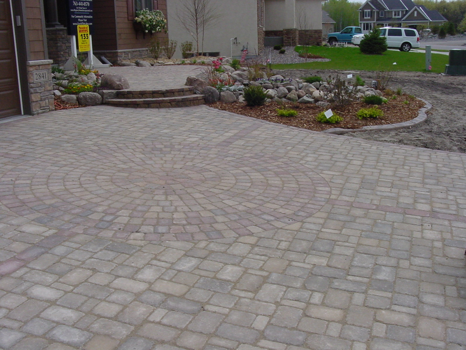 Interlocking Brick Pavers Cool Brick Paver Driveway Permeable Environmentally Friendly Paving